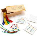 自宅でモンテッソーリ教育!縫いさしのやり方と自作シート無料DL配布