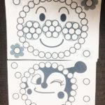 【アンパンマンのシール貼り台紙2 無料DL】2、3歳向け中級